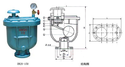 CARX复合式排气阀外形尺寸