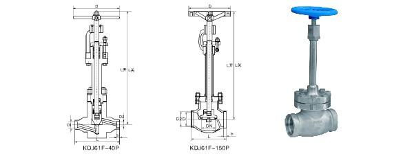 低温截止阀,低温球阀,耐低温可以达到-196℃,采用加长阀盖的结构,加长图片
